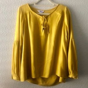 BB dakota mustard yellow blouse (Size S)